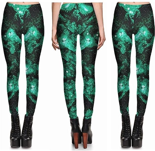Super Green Leggings Sexy #L1216,RedOphelia.com