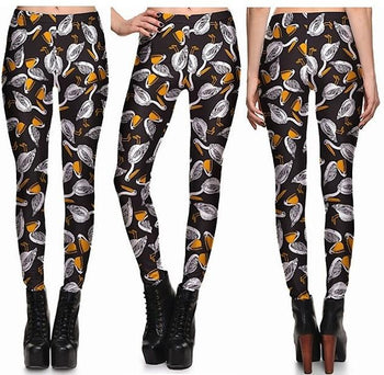Swan Leggings #1301,RedOphelia Leggings