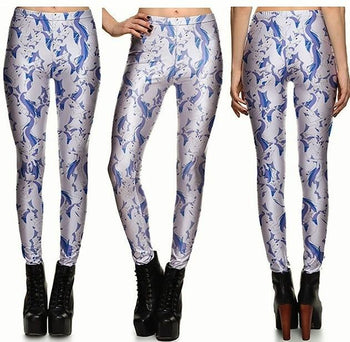 White Horse Leggings #L1308,RedOphelia Leggings
