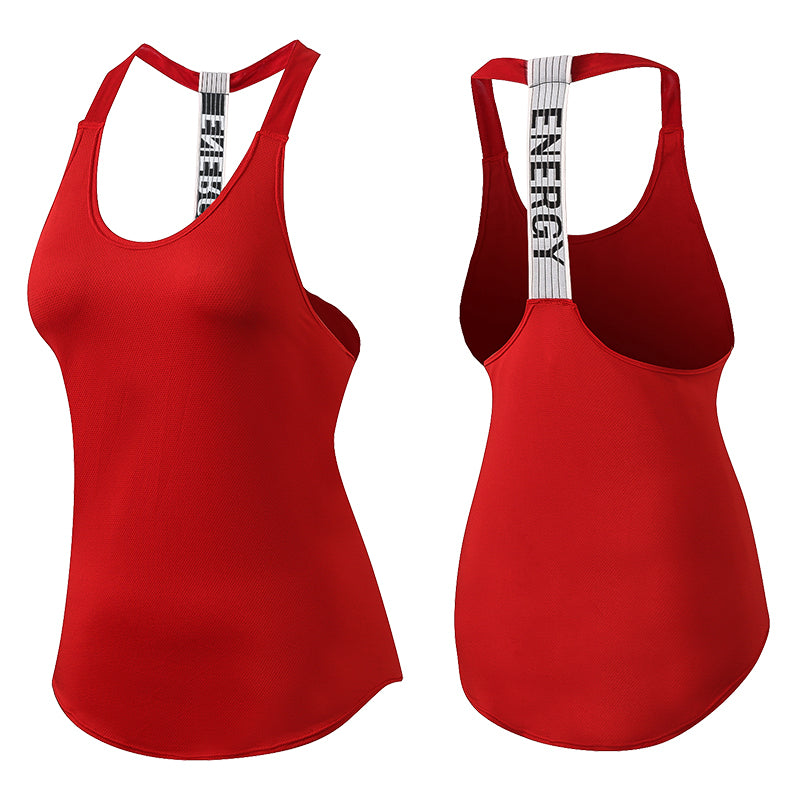 Womens Red Backless Vest