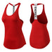 Yuerlian New Breathable Backless Yoga Vest Solid Quick Drying Running Gym Sport Yoga Shirt Women Fitness Sleeveless Red Tank Top,RedOphelia.com