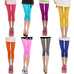 Spring Summer 2018 Candy-colored Silk leggings Cropped pants Capris for Women Fitness Trousers Elastic waist Leggings,RedOphelia.com