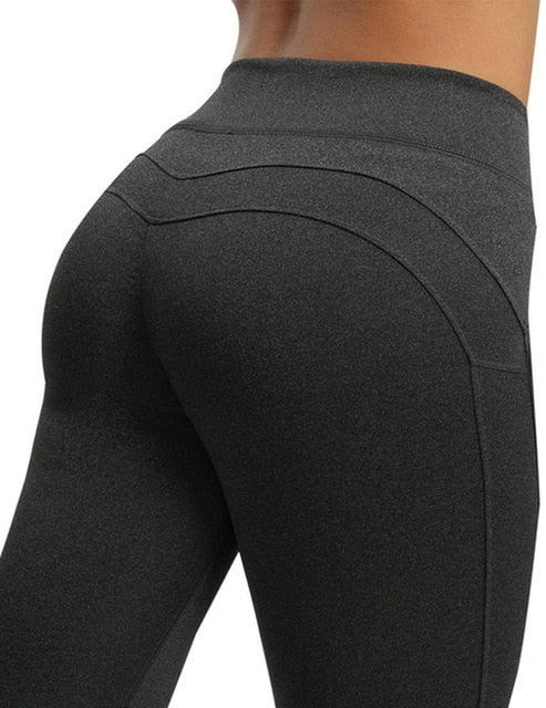 Sexy Push Up Leggings Women Workout Clothing High Waist Leggins Female Breathable Patchwork Fitness Pants ladies Gym Sports,RedOphelia Leggings
