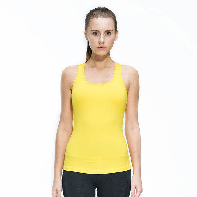 Women Fitness Tight Yoga Vest Gym Sports Sleeveless Shirts Compression Female T-shirt Nylon Sexy Sportswear Tank Top,RedOphelia.com