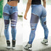 2019 Jeans Printing Leggings Put Hip Elastic High Waist Legging Breathable Slim Pants,RedOphelia Leggings