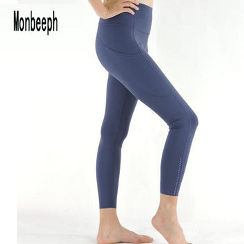 Monbeeph print leggings high waist pants Ankle-Length Pants 7/8 capris pants Pencil skinny Pants,RedOphelia.com