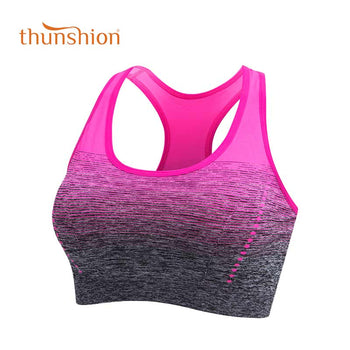 THUNSHION Sports Bra High Stretch Breathable Top Fitness Women Padded for Running Yoga Gym Seamless Crop Bra Gradient Sport Bra,RedOphelia.com