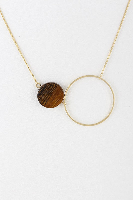 Two Circle Pendant Necklace - Sparrow Noir