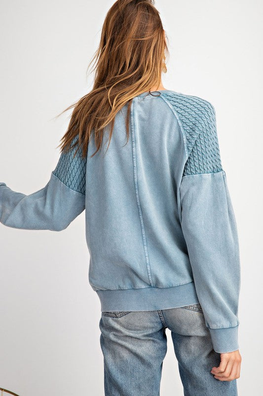 Faded Teal Pullover - Sparrow Noir