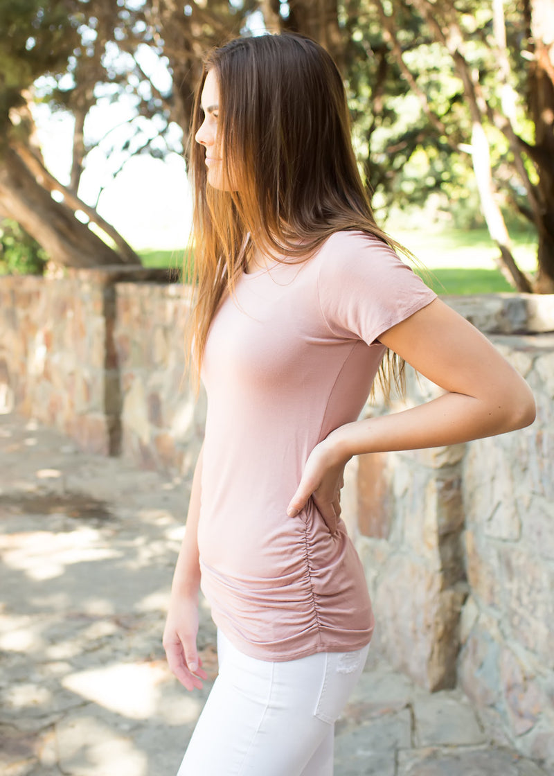 Blush Ruched Top - Sparrow Noir