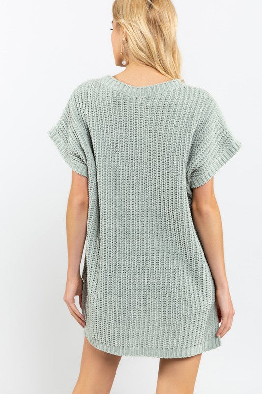 Sage Sweater Tee - Sparrow Noir