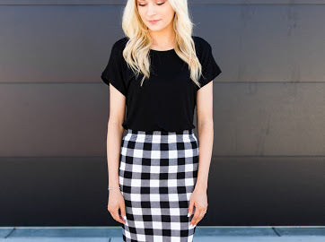 Mad About Plaid Skirt - Sparrow Noir