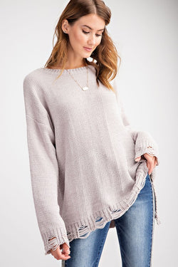 Torn to Shreds Sweater - Sparrow Noir