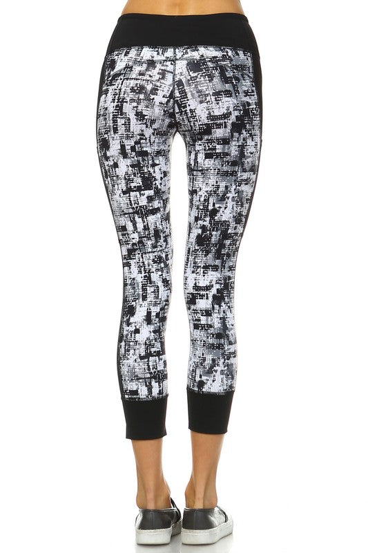 Graffiti Print Legging - Sparrow Noir