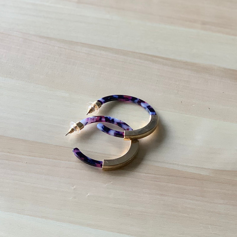 Purple Rain Hoops - Sparrow Noir