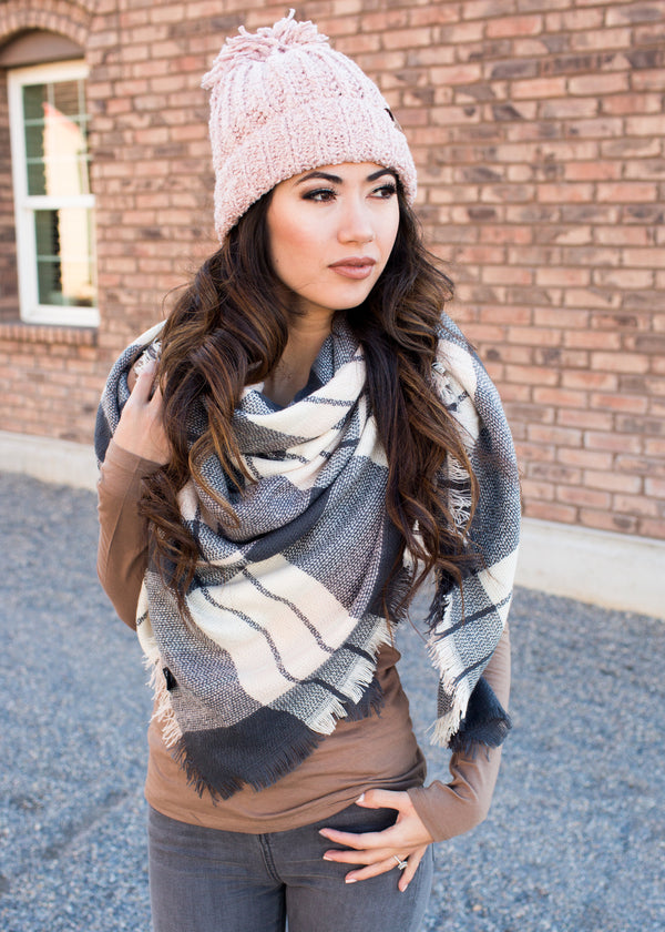 Betty Blanket Scarf - Sparrow Noir