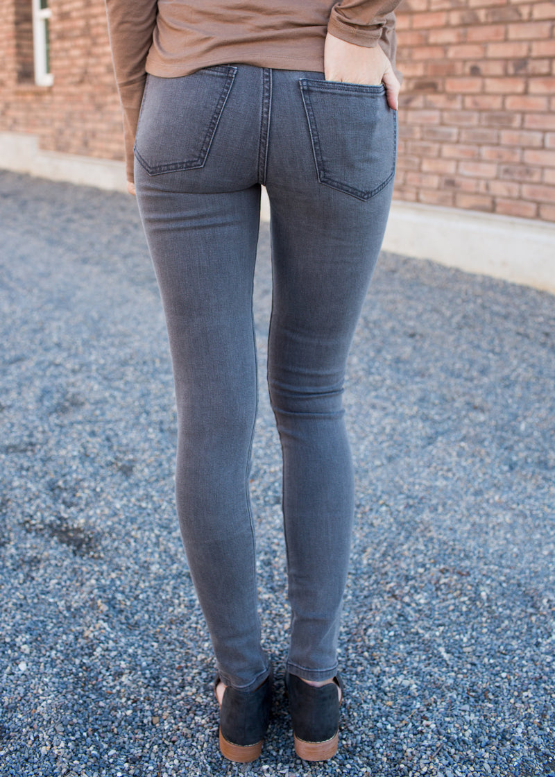 Grey Distressed Denim - Sparrow Noir