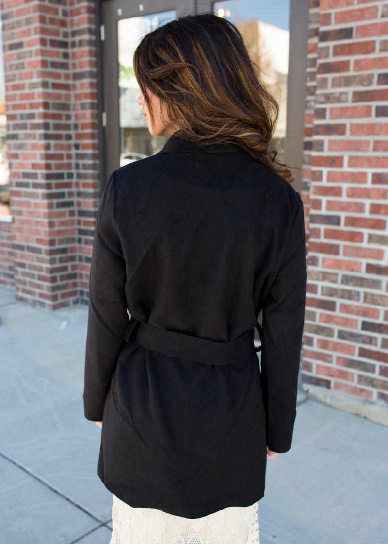 Angelina Tie Jacket - Sparrow Noir
