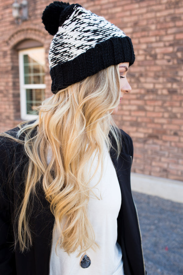 Salt and Pepper Beanie - Sparrow Noir