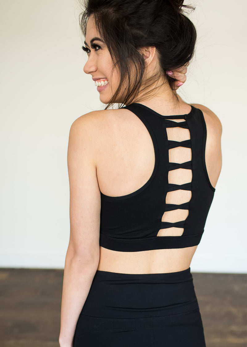 Ladder Back Bra Top - Sparrow Noir