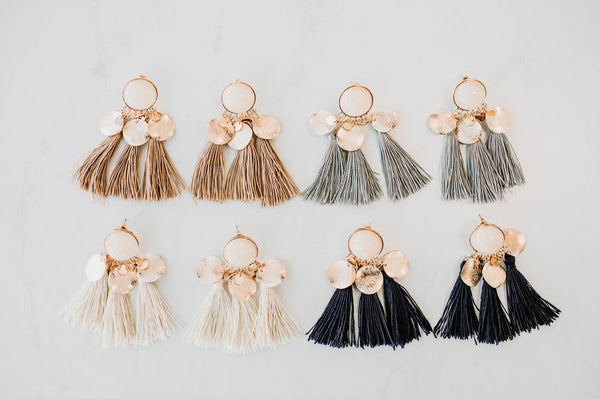 Boho Fringe Earrings - Sparrow Noir