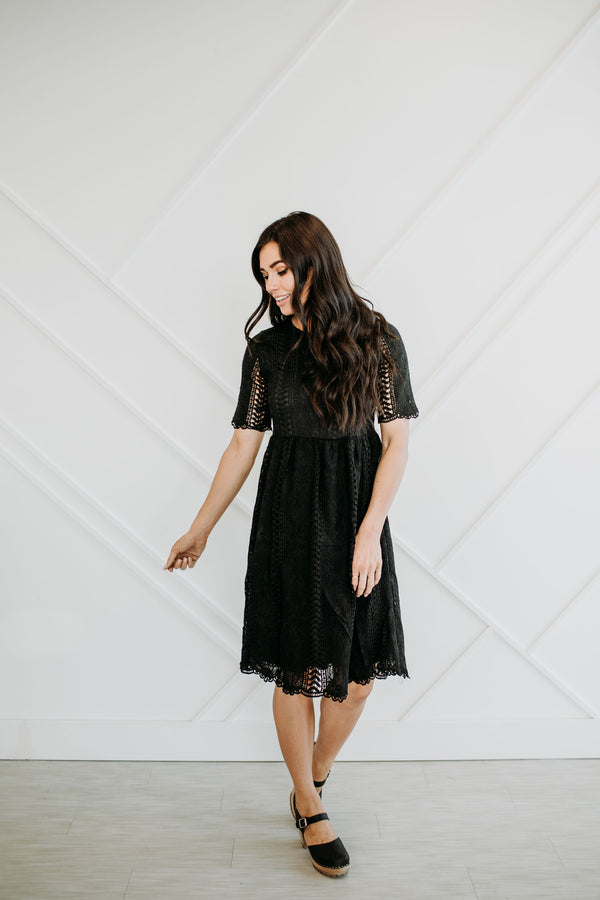 Little Black Lace Dress - Sparrow Noir