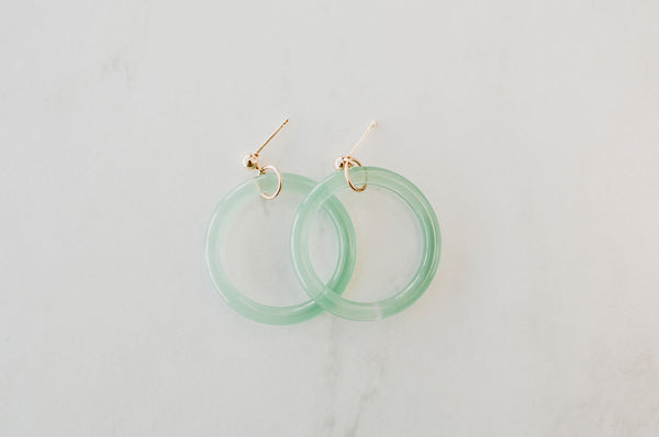 Acrylic Hoop Earrings - Sparrow Noir