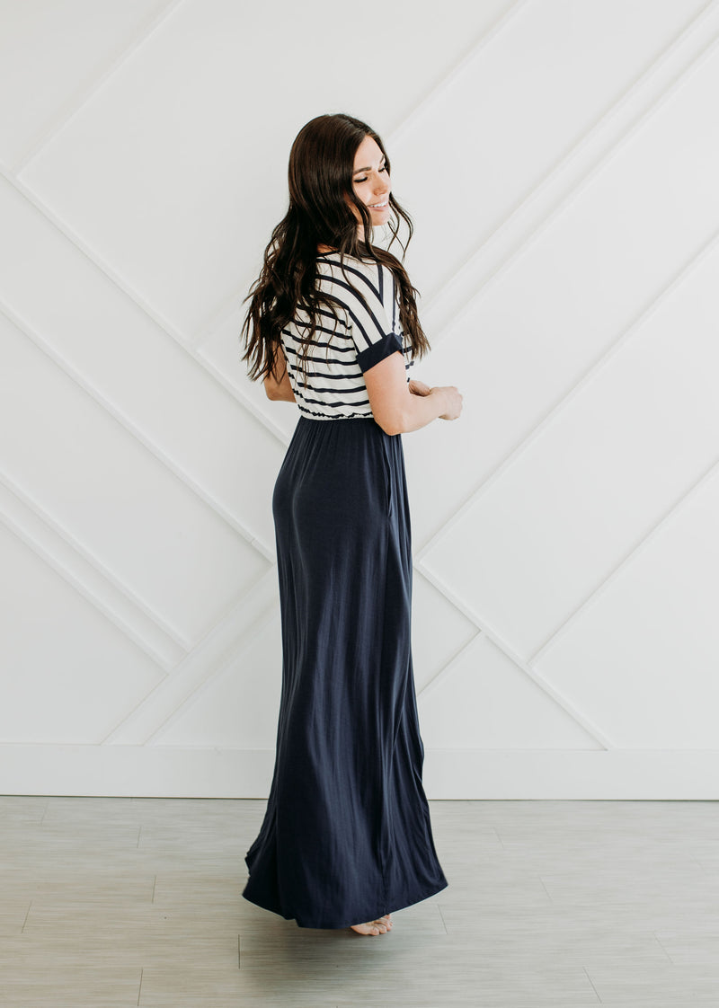 Striped to the Max Maxi - Sparrow Noir