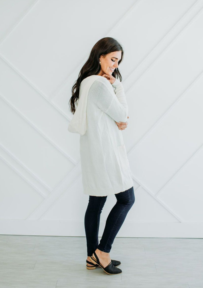 Sydney Cream Cardigan - Sparrow Noir
