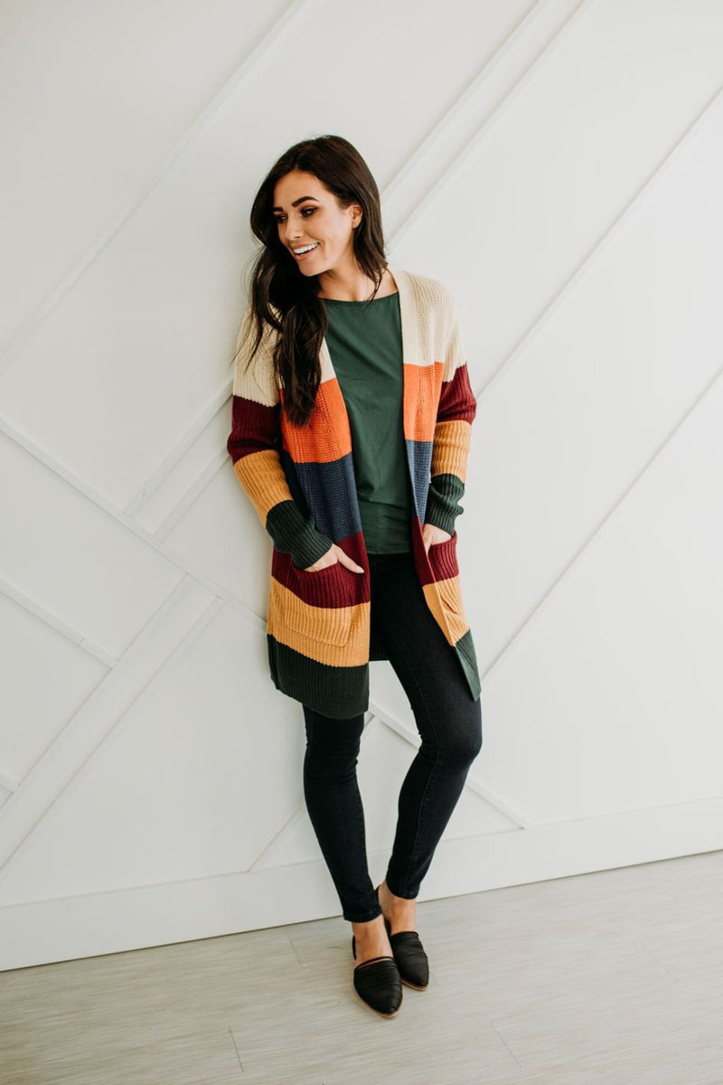 Colorwheel Cardigan - Sparrow Noir