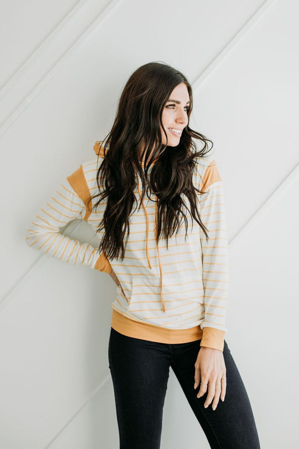 On The Go Hoodie in Mustard - Sparrow Noir
