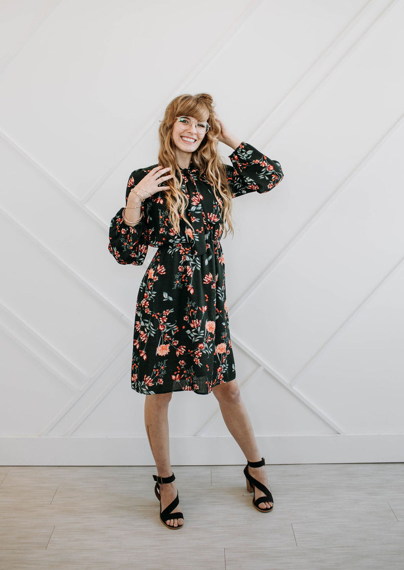 Vintage Floral Julianna Dress - Sparrow Noir