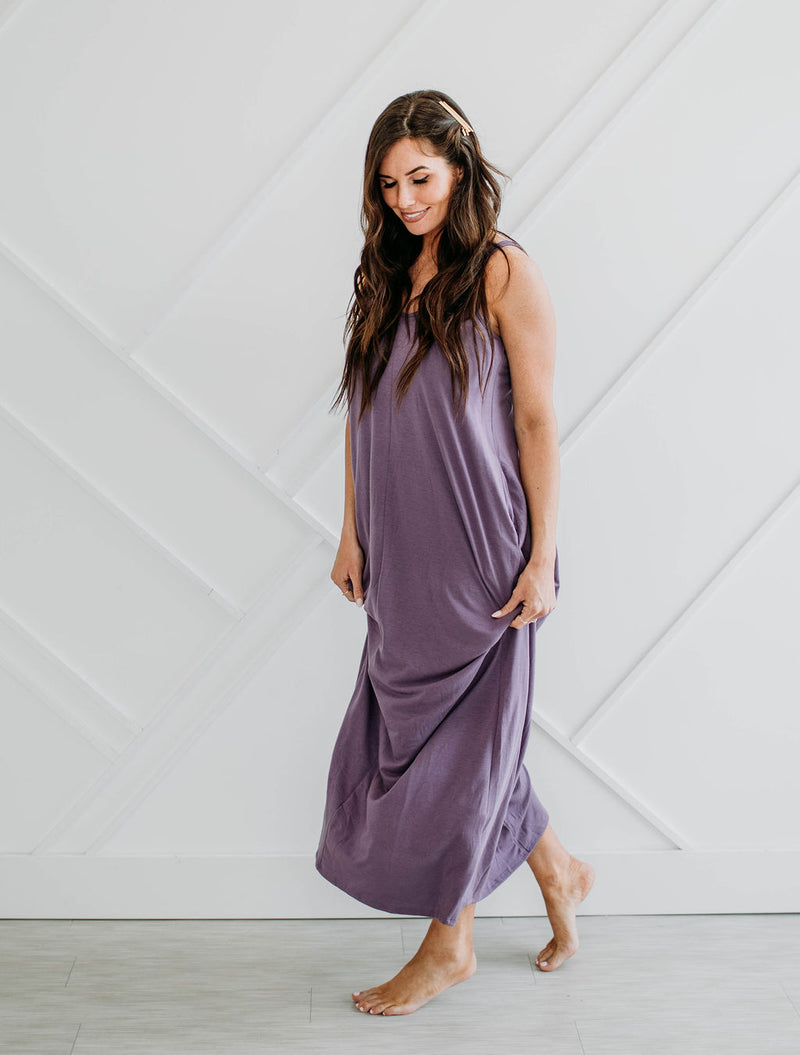 The Addison Maxi - Dusty Lilac - Sparrow Noir
