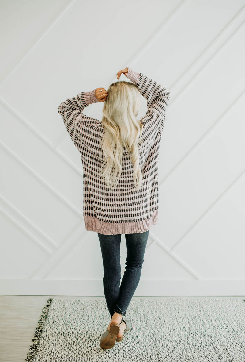 Sunday Mornings Blush Sweater - Sparrow Noir