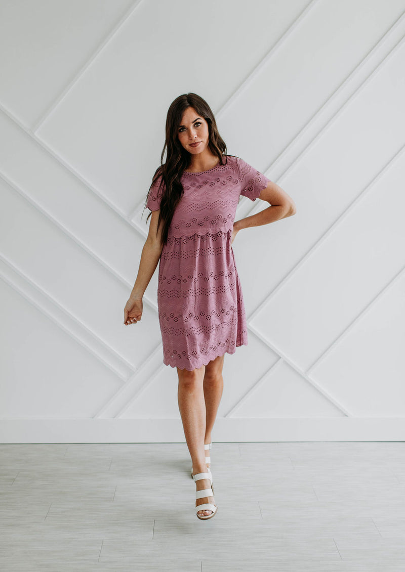 Felicity Dress-Mauve - Sparrow Noir