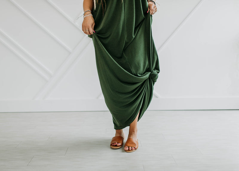 The Addison Maxi - Army Green - Sparrow Noir