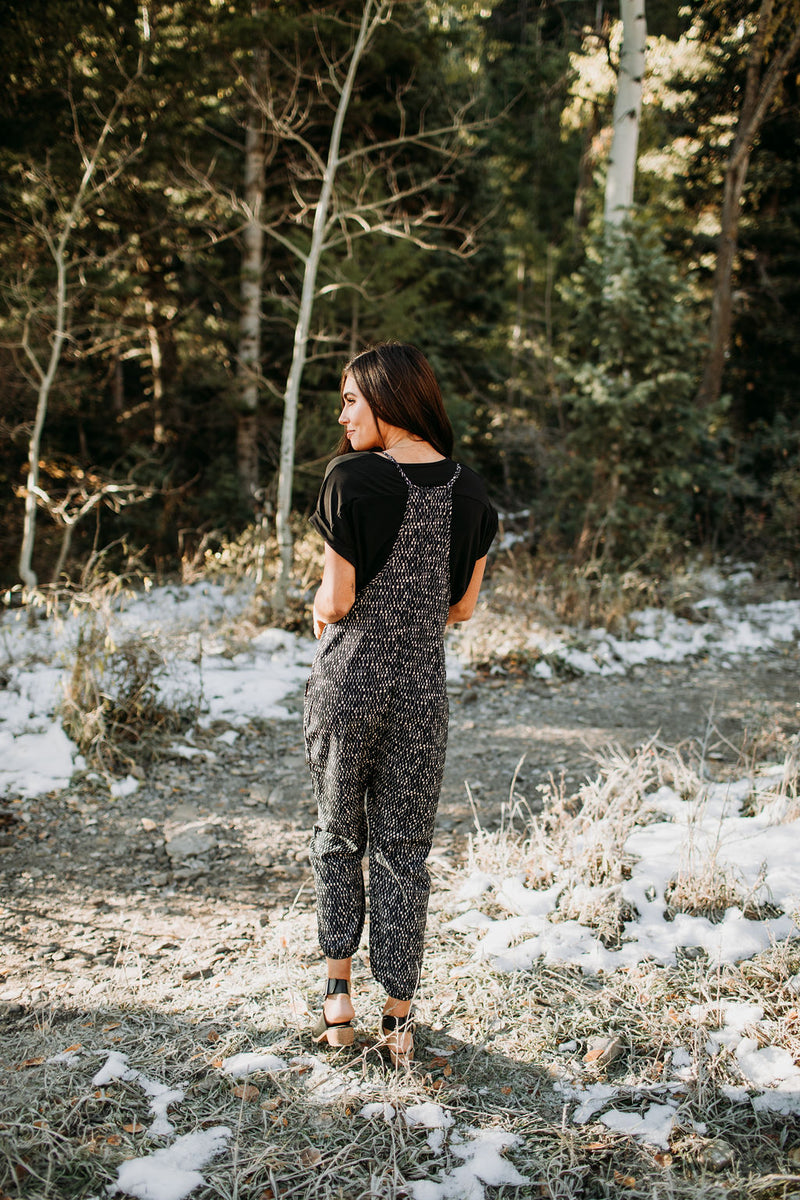 The Geo Jumpsuit - Sparrow Noir