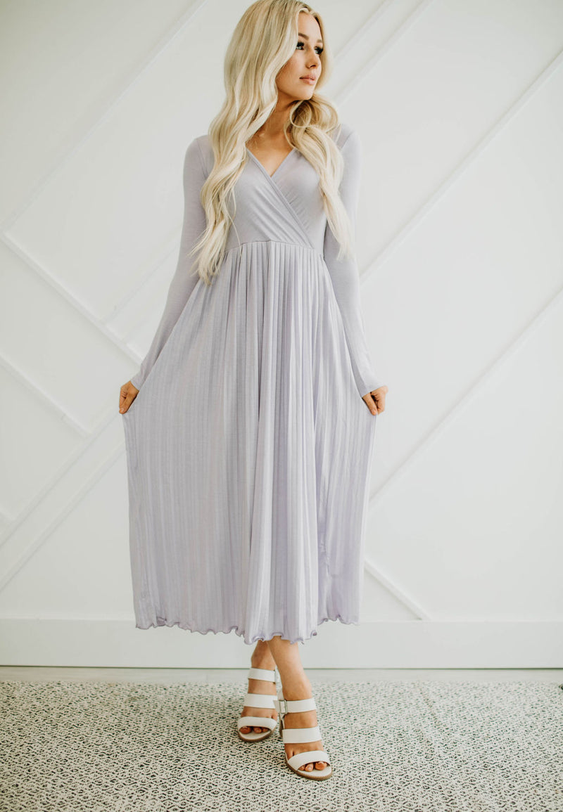 Larissa Lavender Dress - Sparrow Noir