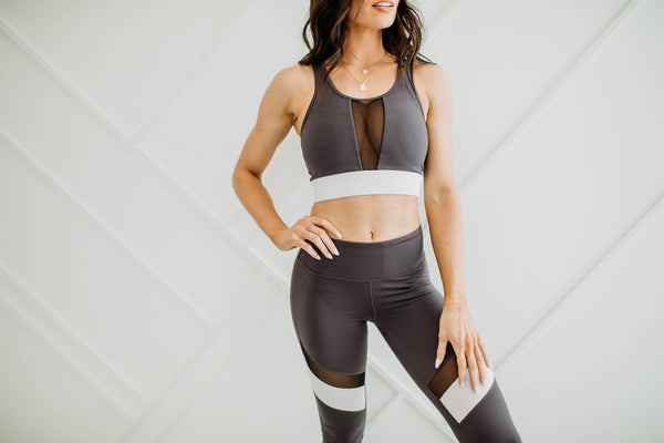 Plum Perfect Sports Bra - Sparrow Noir