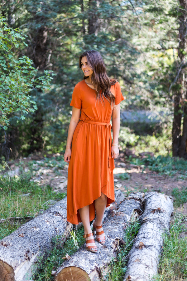 Burnt Orange Dress - 3XL - Sparrow Noir