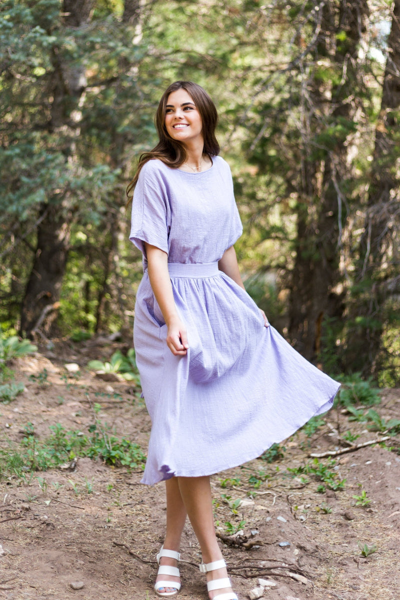 Lavender Fields Skirt - Sparrow Noir