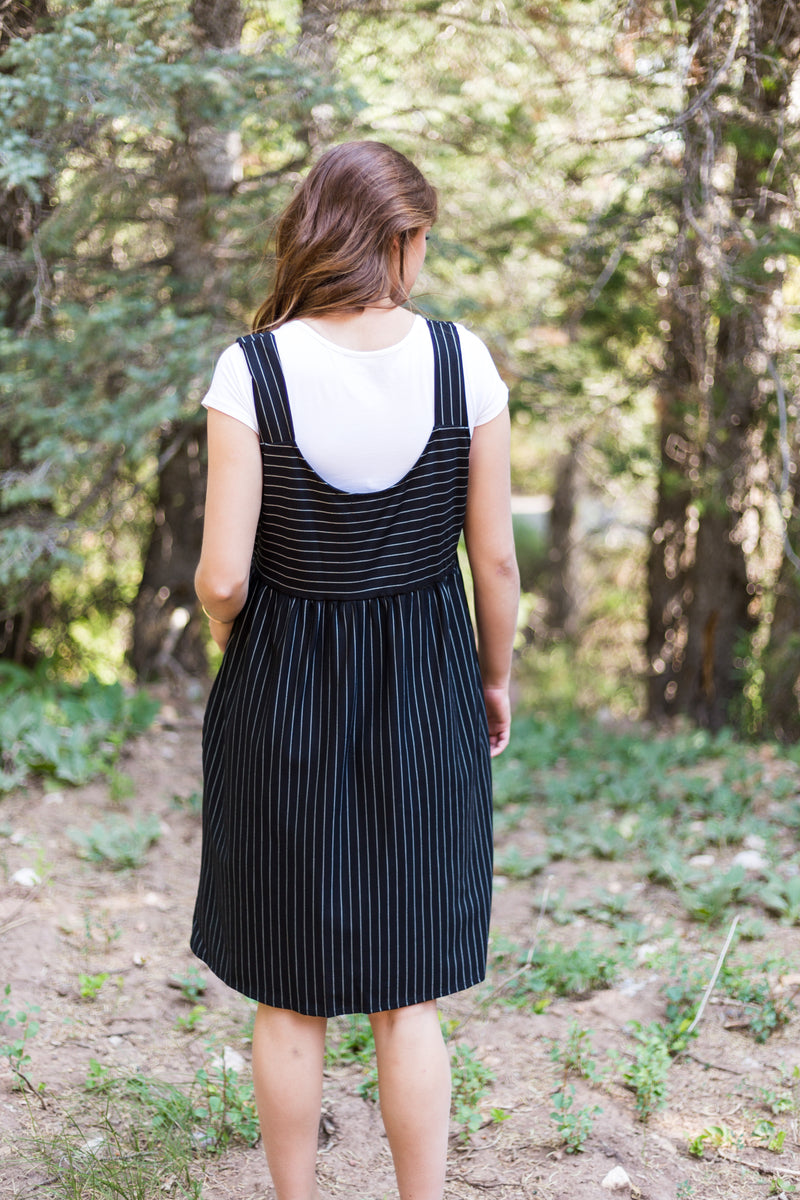 Sweet Claire Jumper Dress - Sparrow Noir