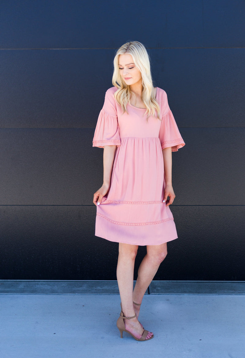 Blush Crochet Dress - Sparrow Noir