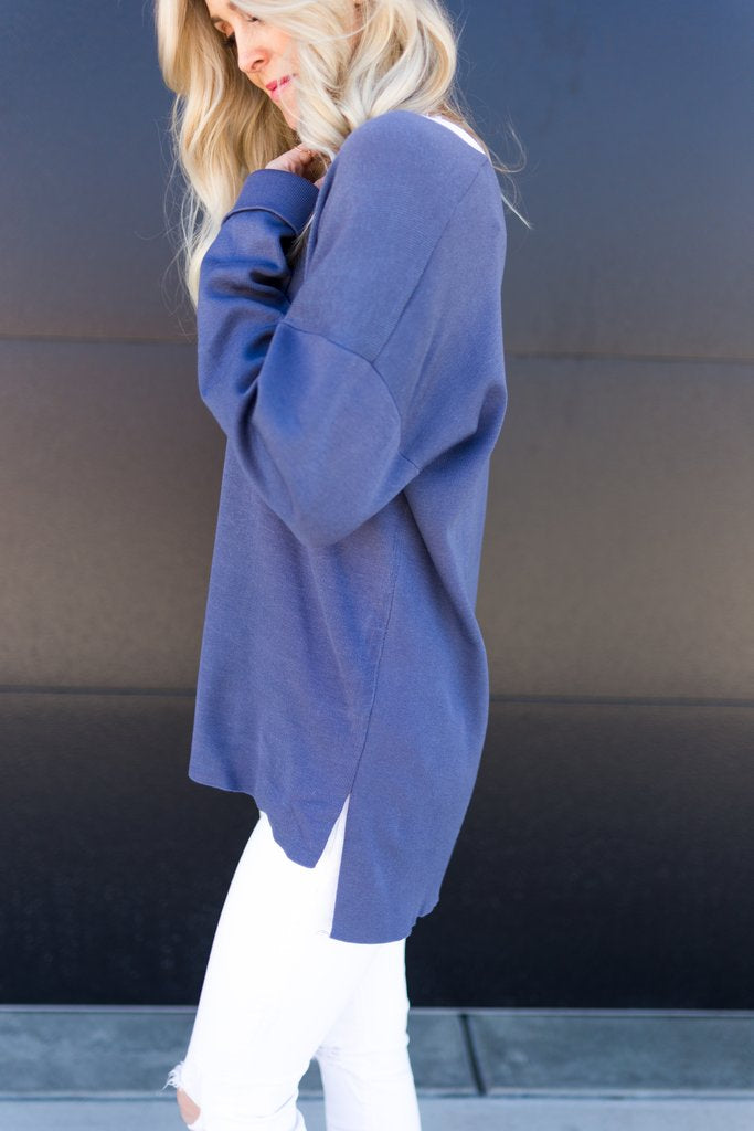 Perfect Pullover - Blue - Sparrow Noir