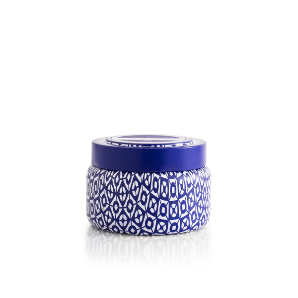 Capri Blue Printed Travel Tin - 8.5 oz - Sparrow Noir