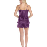 Spaghetti Top and Shorts Set for Women - Purple
