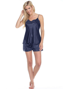Spaghetti to and shorts navy
