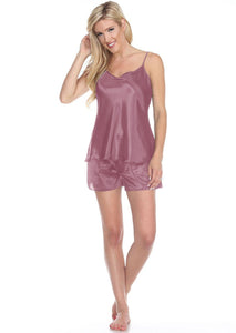 Spaghetti Top and Shorts Set for Women pink