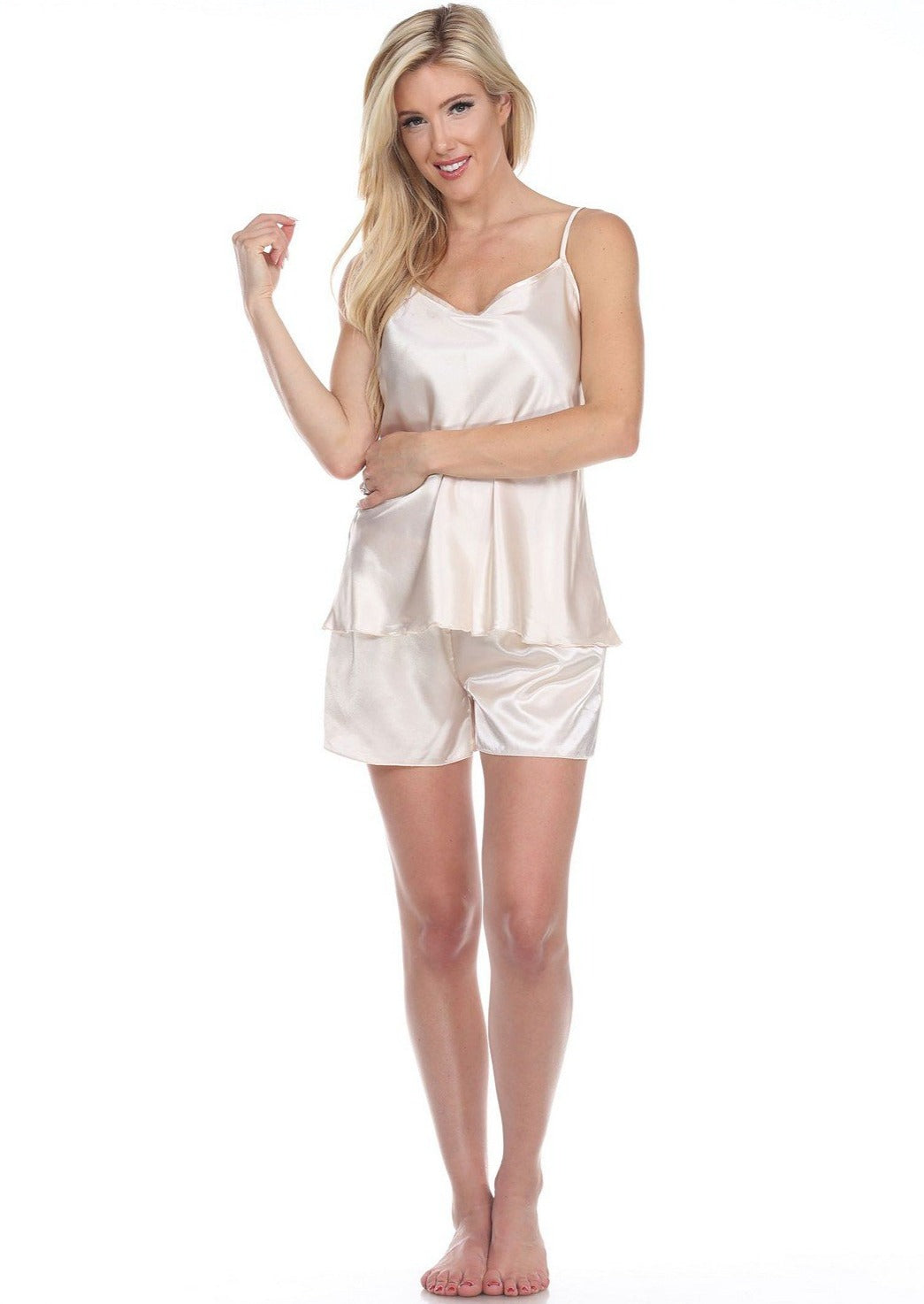 Spaghetti Top and Shorts Set for Women - White