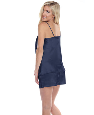 Spaghetti Top and Shorts Set for Women - Navy